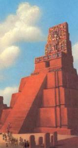 Mayské chrámové pyramidy